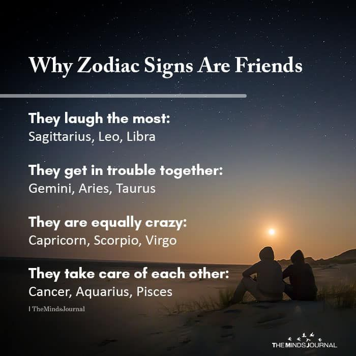 Why Zodiac Signs Are Friends