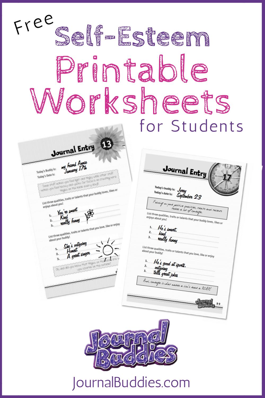 Free Printable Self Esteem Worksheet for Kids | Life skills ...