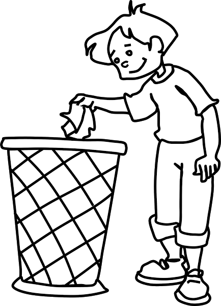 Use The Dustbin Clipart
