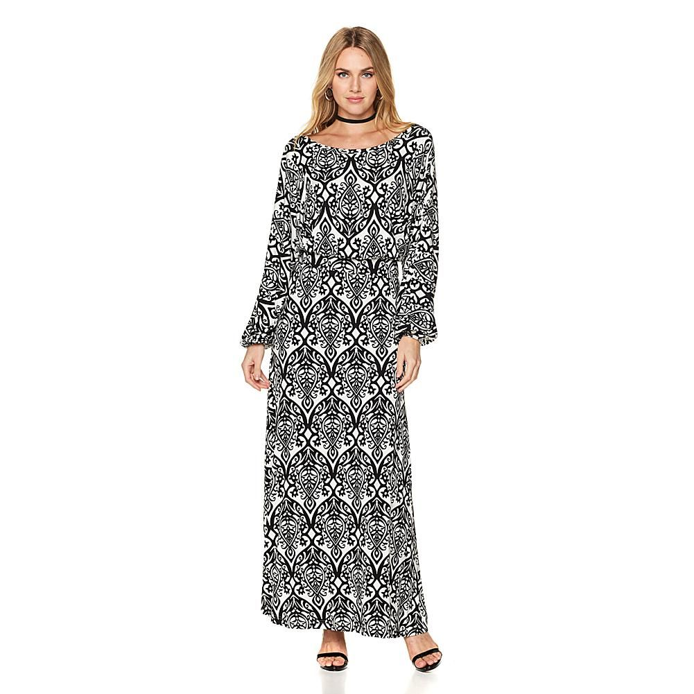 Colleen lopez printed dolmansleeve maxi dress printing and products