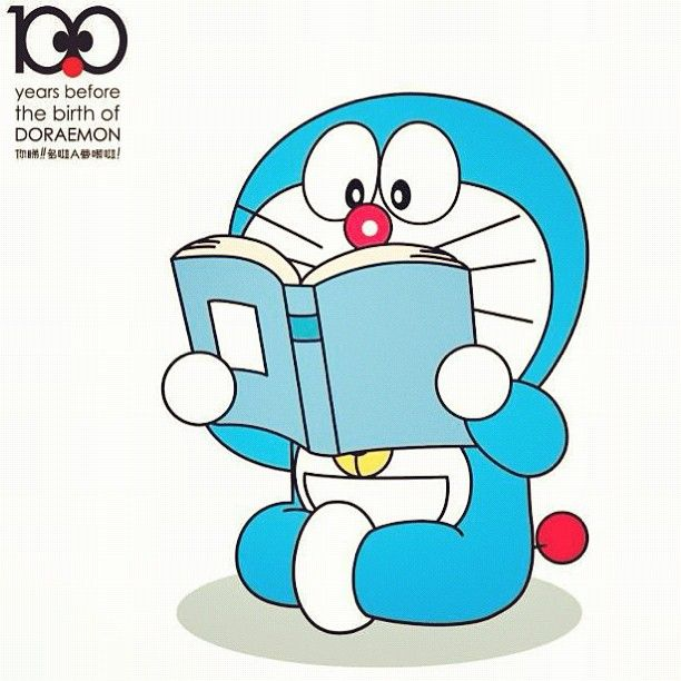 Doraemon leyendo