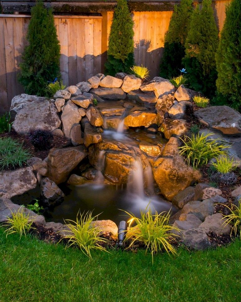 26 Cool Water Features Ideas Low Budget Waterfalls Backyard