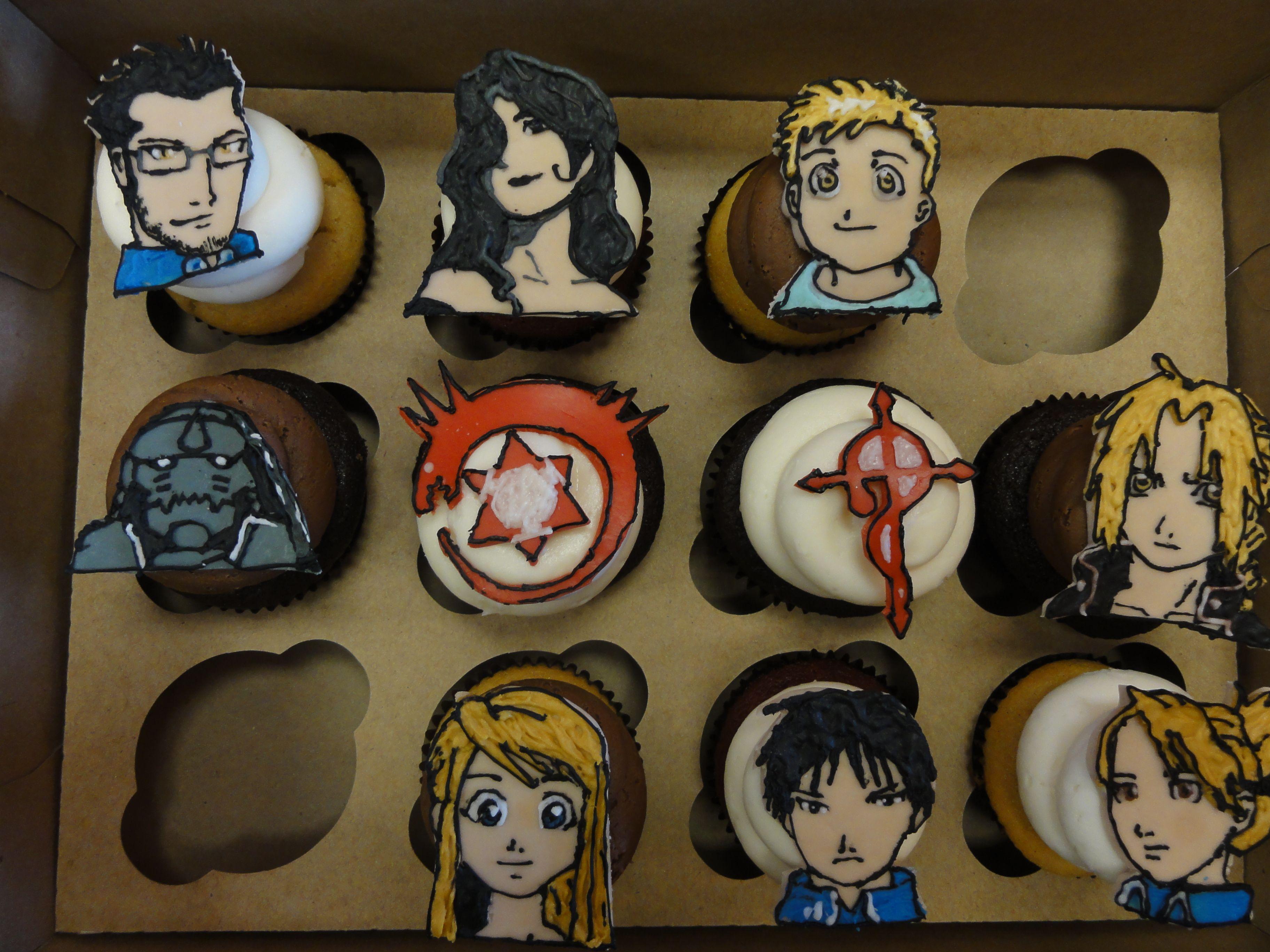 Fullmetal Alchemist Cupcakes by Frostings Bake Shop