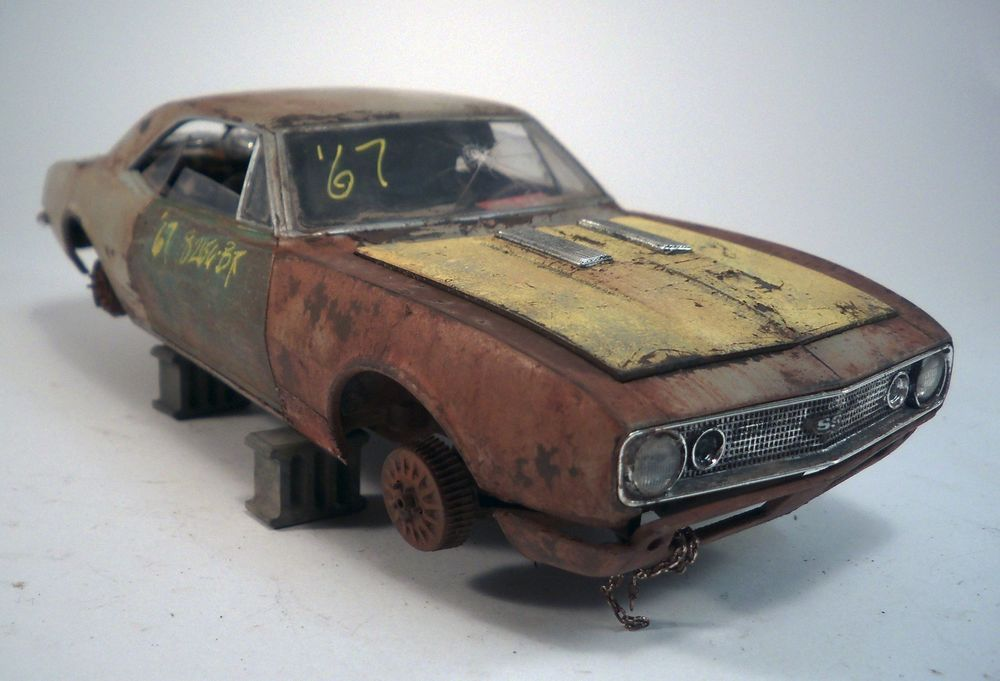 1967 Chevy Camaro SS Pro Built Weathered Barn Find Junkyard Custom 1 25 Revell