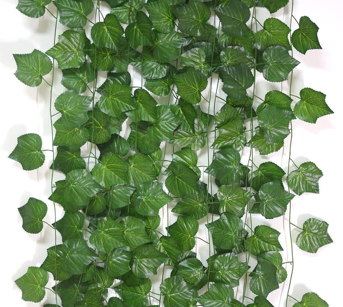 Beebel feet artificial plants silk grape leaves vine garland