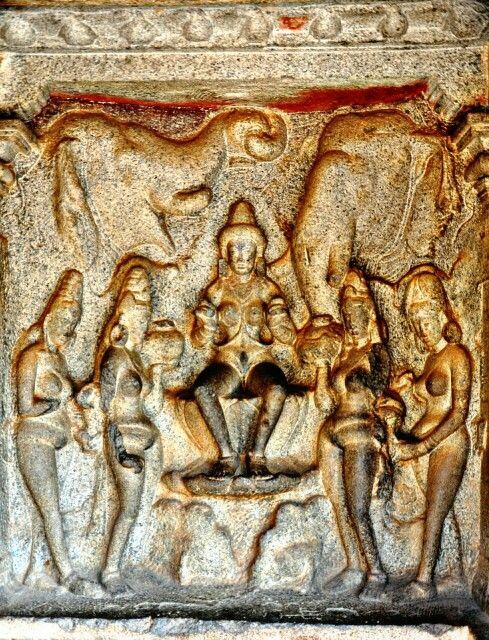 Gaj Lakshmi Mahaballipuram Pallava Dynasty 7th Century Ce