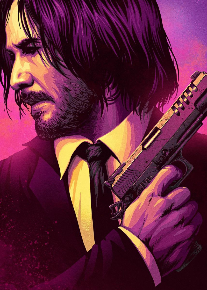 'John Wick' Poster Print by TraXim Design Displate in