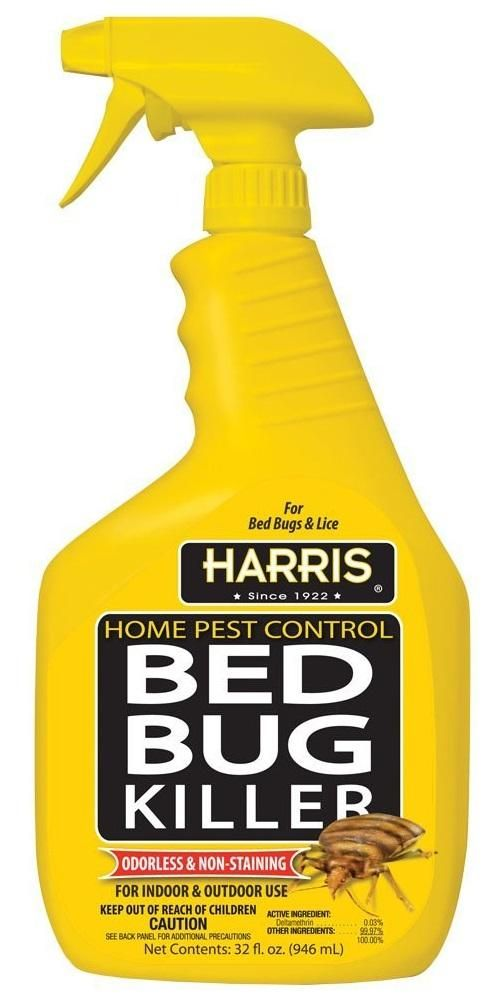 Harris HBB32 Home Pest Control Bed Bug Insect Killer 32 Oz Bug