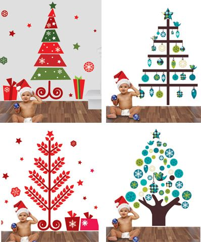 Arbol navidad vinilo navidad original pinterest - Arbol tipico de navidad ...