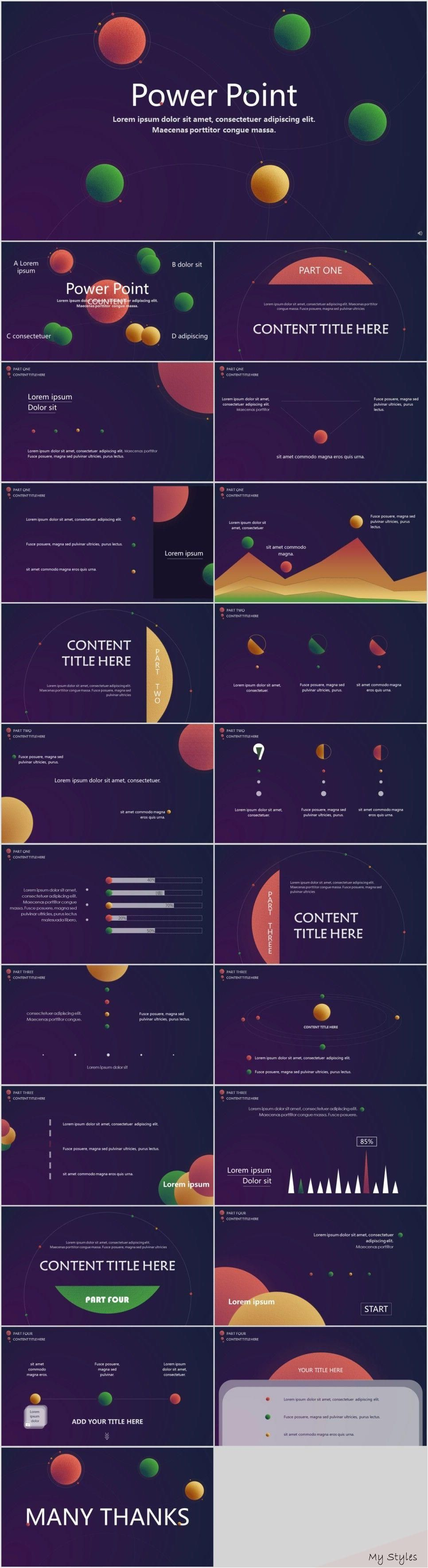 22+ Cosmic stereoscopic Dynamic PowerPoint Presentations template ,  #Cosmic #dynamic #infogr- #architectural #styles #history
