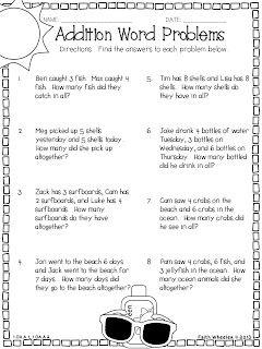 Addition Word Problems Freebie | Math story problems ...