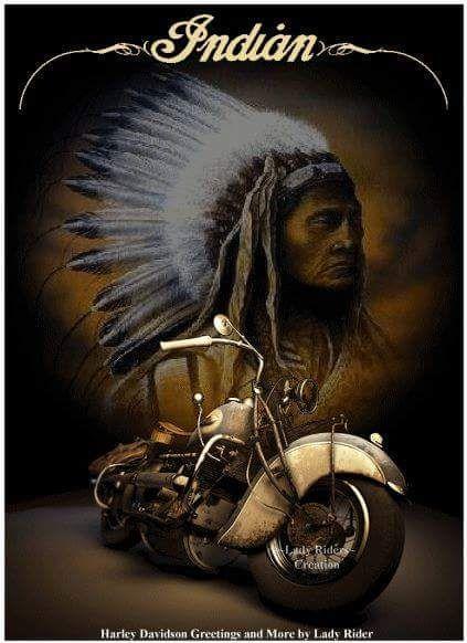 Vintage Indian Motorycle Poster Vintage Indian