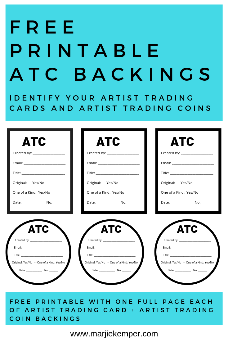 Free Printable Artist Trading Card Backings Trading Card Ideas Artist Trading Cards Art Trading Cards