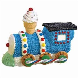 This Choo Train Cake Is Sure To Bring A Smile The Face Of Your Little Engineer Be Shaped Pan Make Stand Up Cakes Like Easy Bake