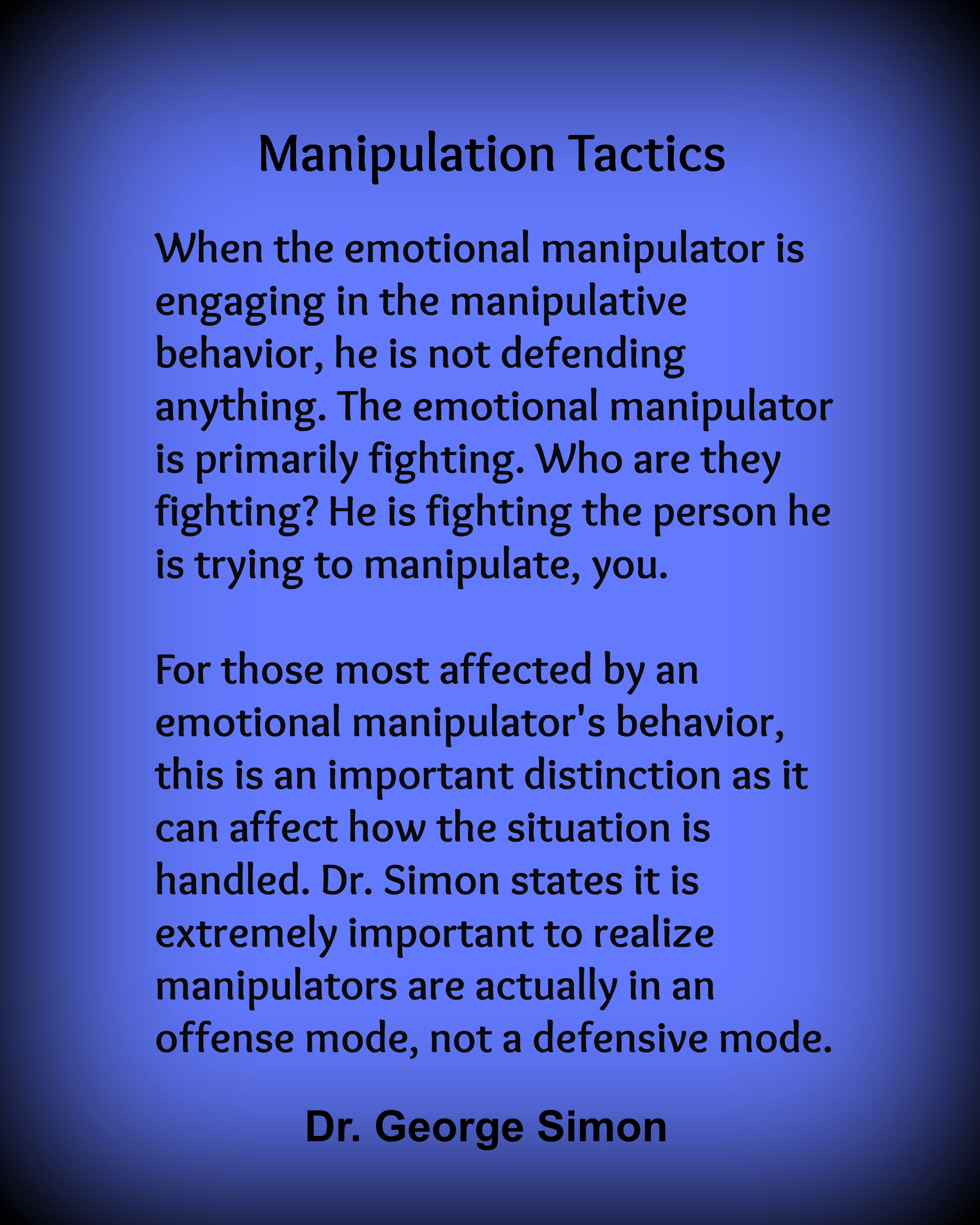 Emotional manipulator