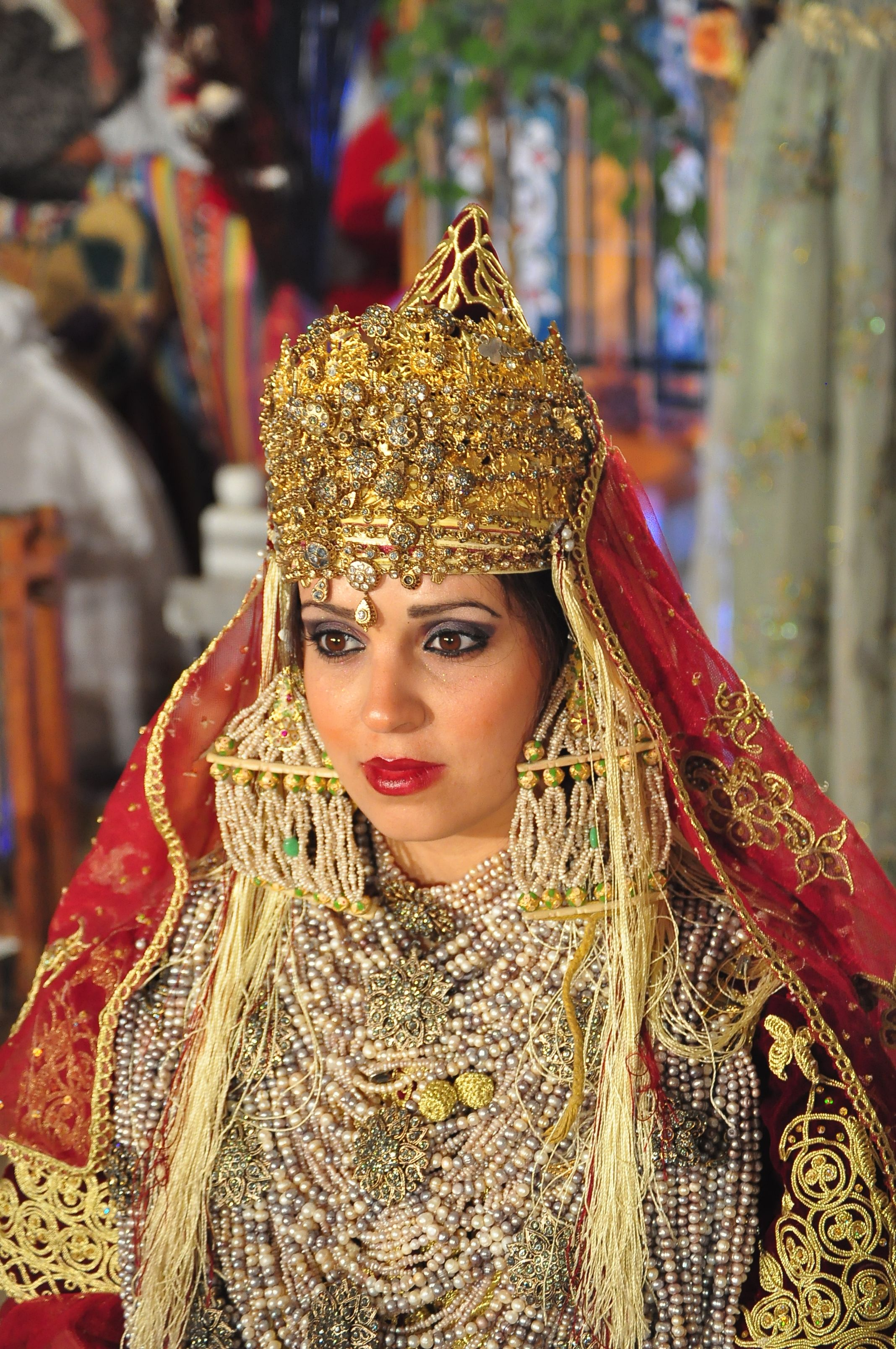 a76d052c5 The traditional costume of Tlemcen is an Algerian dress composed of several  layers of clothes and accessories linked to different Mediterranean ...