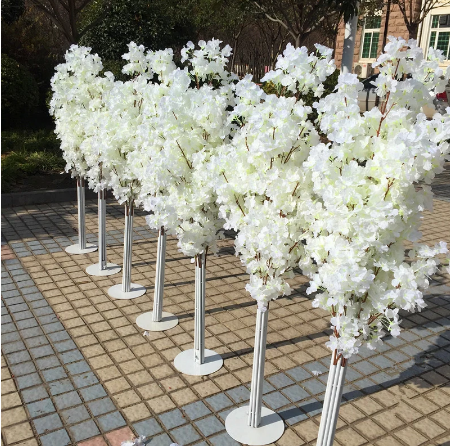 New 1 5m Tall Upscale Artificial Cherry Blossom Tree Runner Aisle Column Road Leads For Weddi Artificial Cherry Blossom Tree Blossom Trees Blossom Tree Wedding