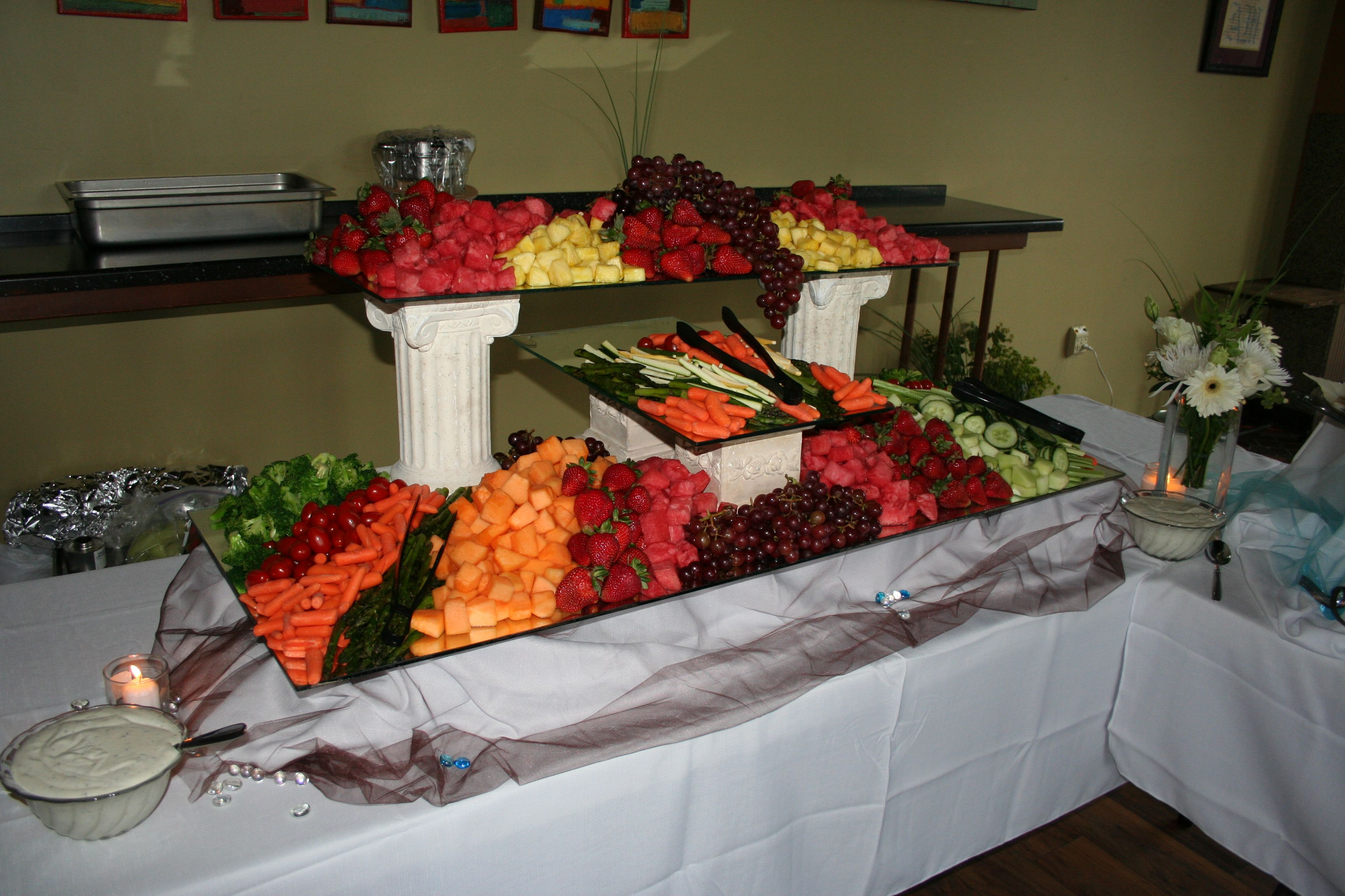 Waterfall Fruit And Veggie Displays: Fruit And Vegetable Display!