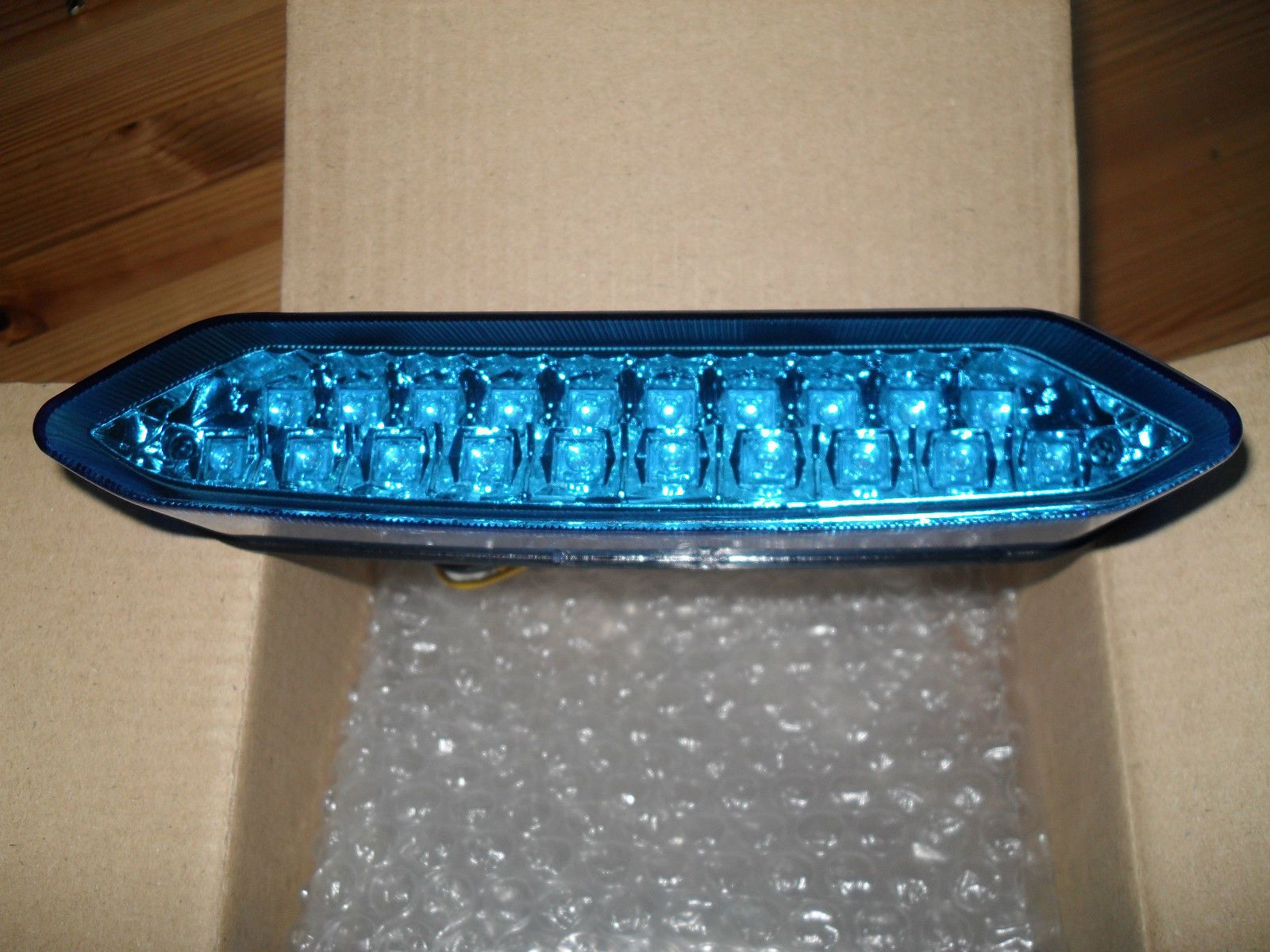 Yamaha Raptor 700 Back Tail Light Lense-Xenon Blue LED with ...
