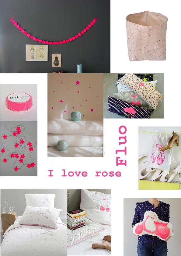 I love rose fluo  chambre lena  Chambre rose Deco chambre enfant et Deco chambre