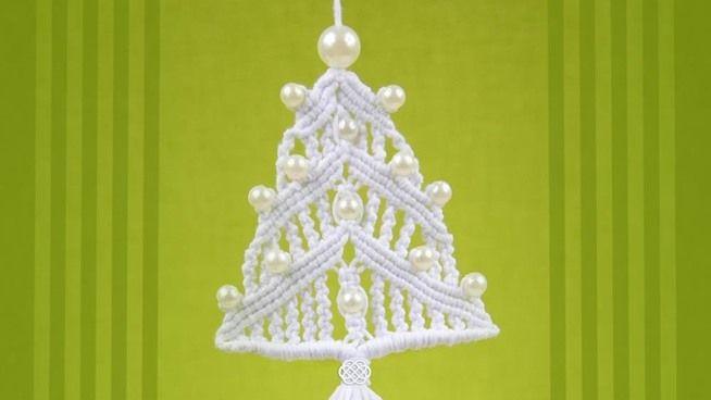How To Make A Macrame Christmas Tree Ornament Inspiration