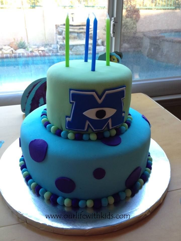 Marvelous Life As Usual Monster Inc Cakes Monster University Cakes Personalised Birthday Cards Epsylily Jamesorg