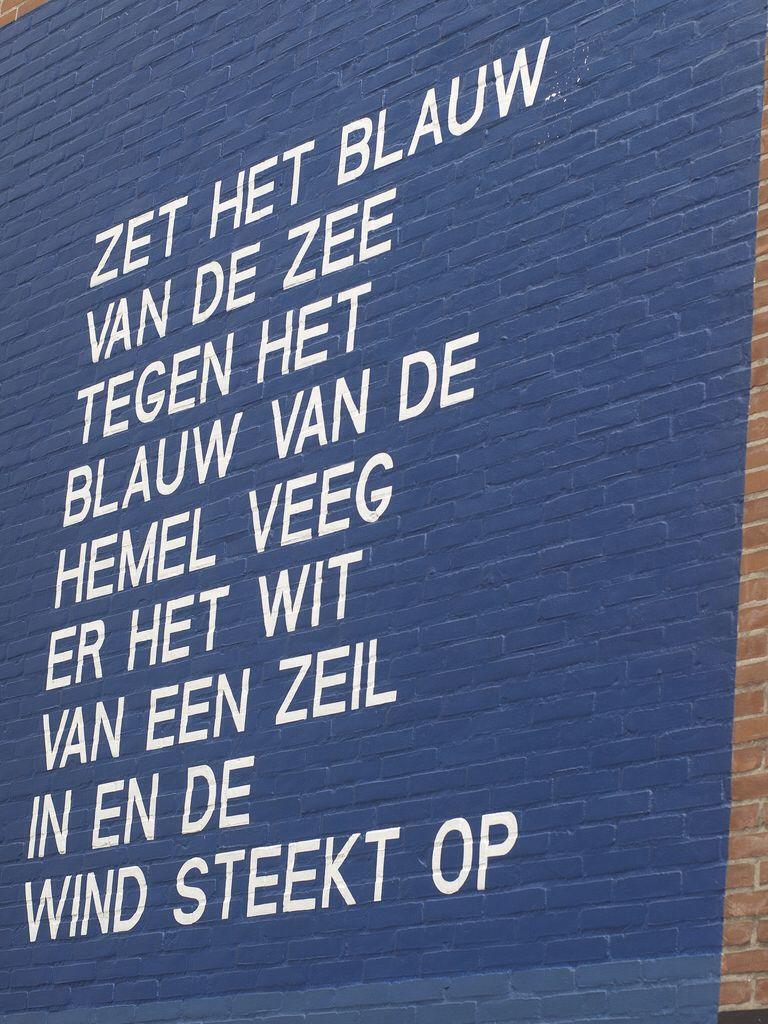 Verbazingwekkend Willem Hussem muurgedicht Leiden - Teksten, Zeilen en Hemel CH-82