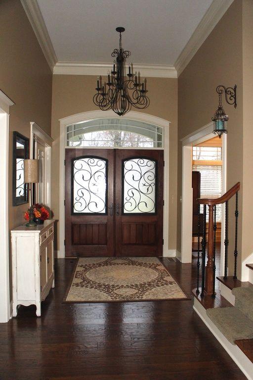 Doors Design: Entry With Beautiful Doors And Chandelier. #entryways