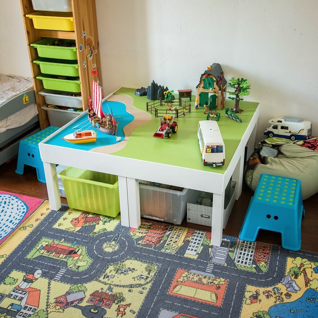 Diy Table De Jeu Pour Playmo Playmobil Table De Jeu Diy