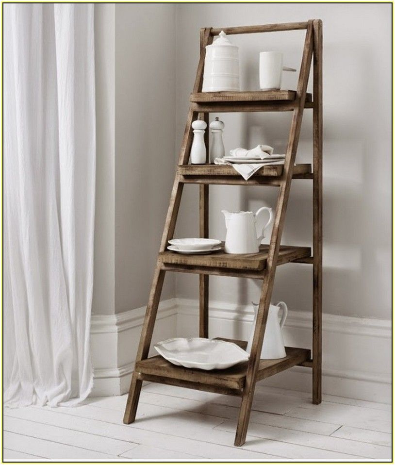 Storage Ideas For Kitchen Ladder Shelf Shelves Home Decor