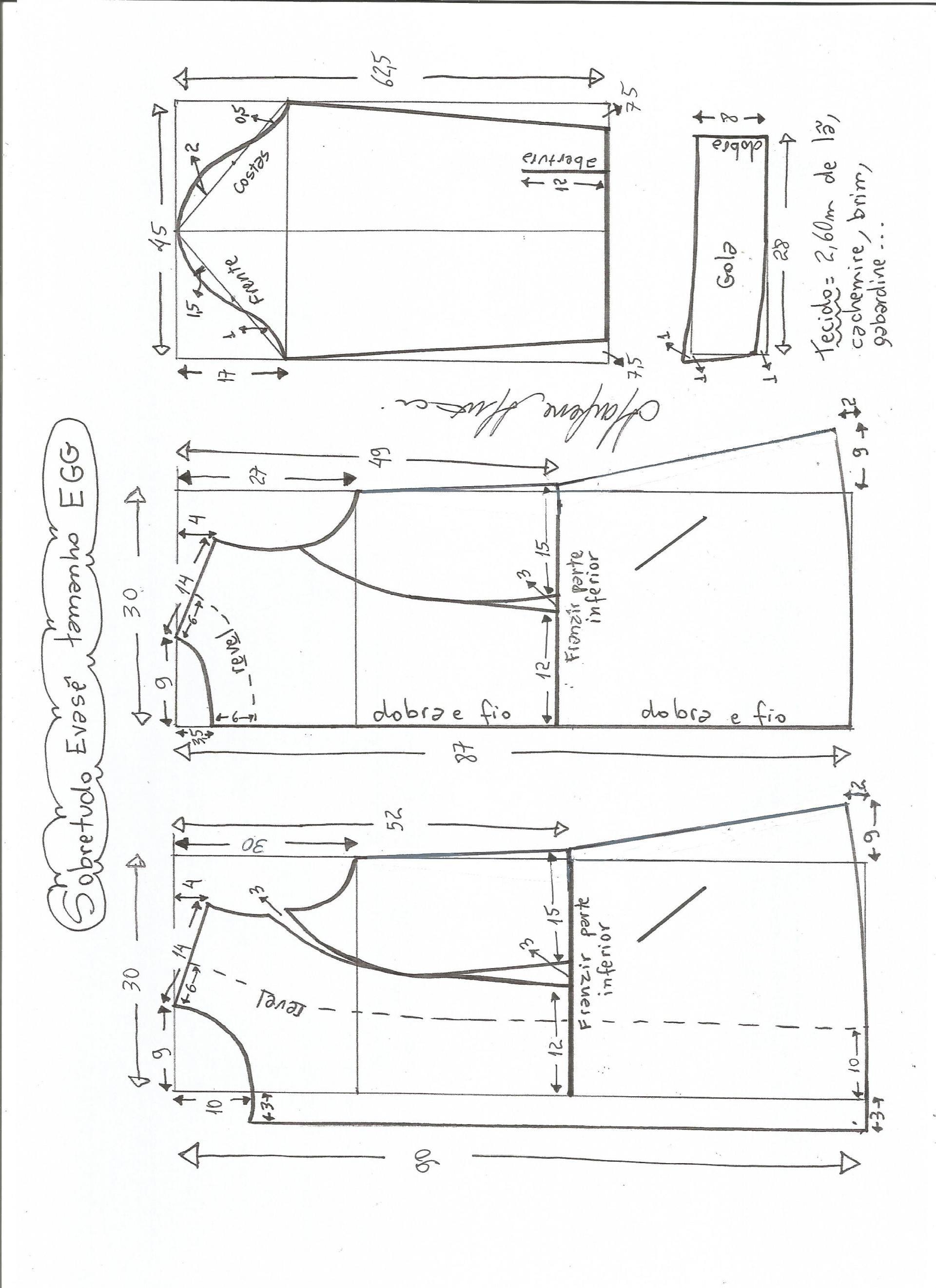 Patrón de abrigo largo entallado | Moldes | Pinterest | Abrigos ...