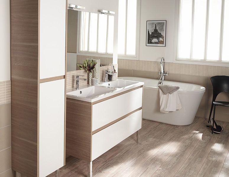CASTORAMA Inspirations Salle-de-bain - ORETI Bathroom Pinterest - meuble salle de bain pierre naturelle