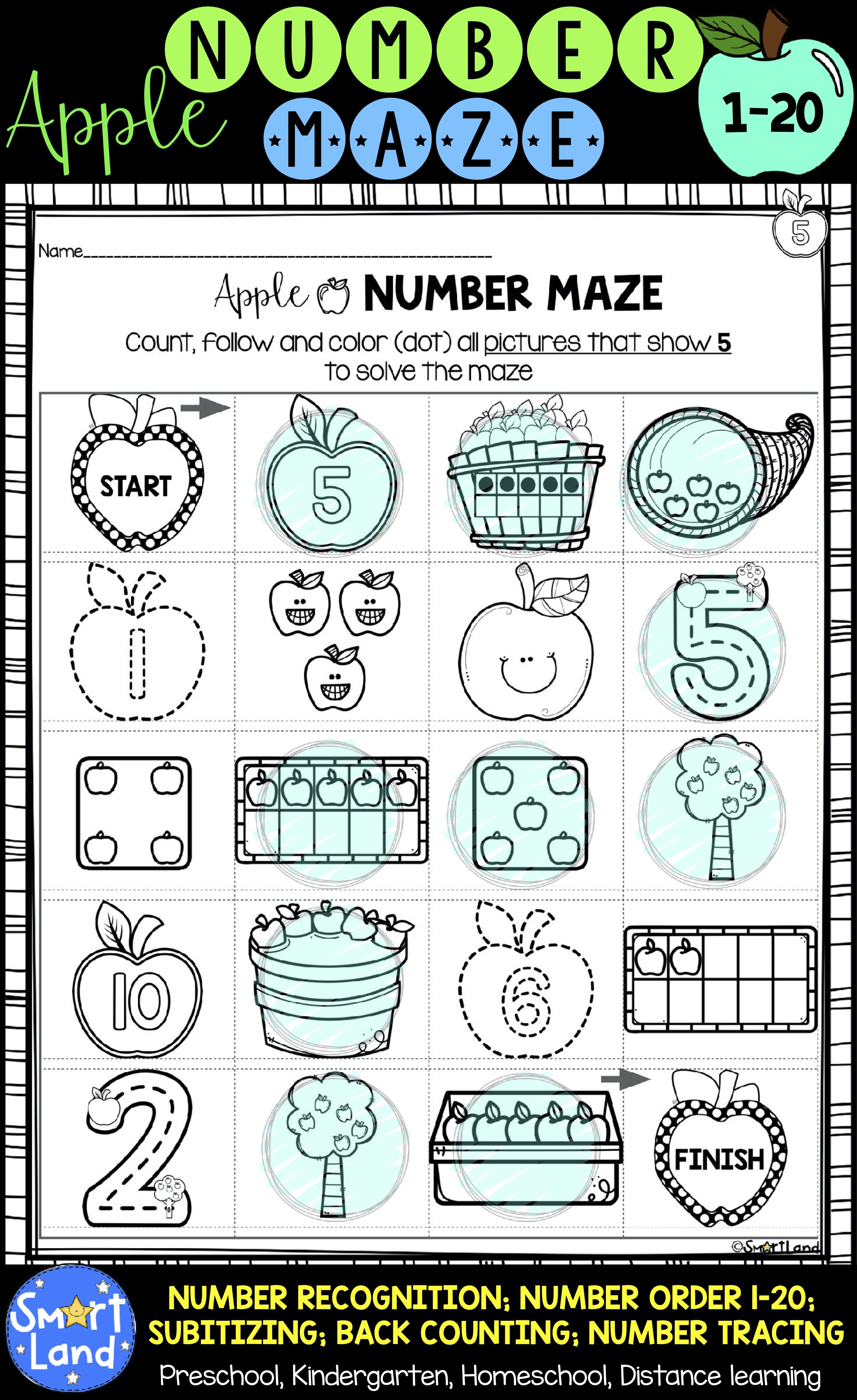 Number Order Number Identification Counting Subitizing