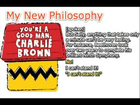 My New Philosophy You Re A Good Man Charlie Brown Karaoke Instrumen Charlie Brown A Good Man Karaoke
