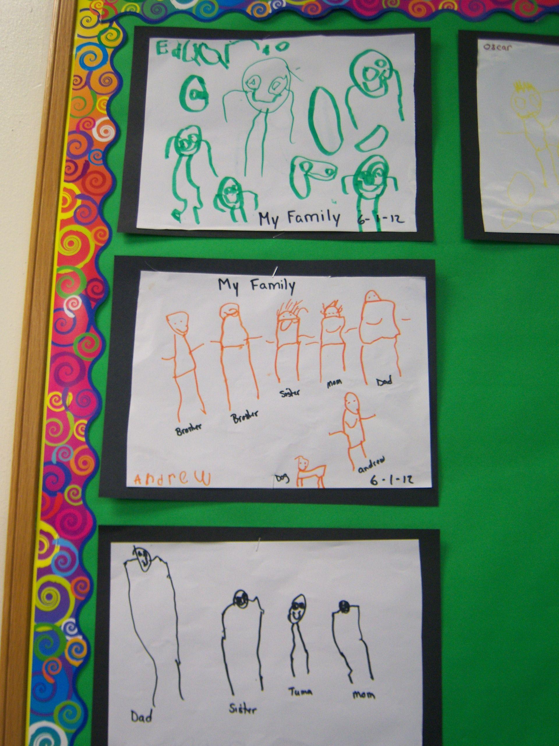 My Family Portrait Preschool