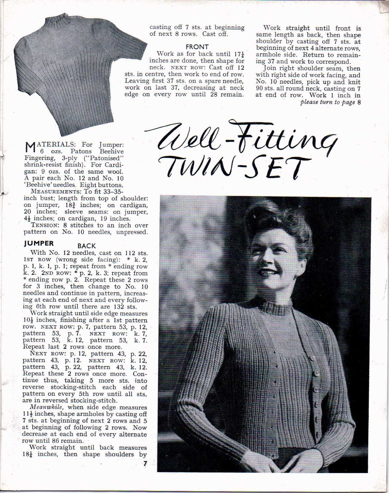 Stitchcraft August Sept 1945 free full magazine knitting | Knitting ...