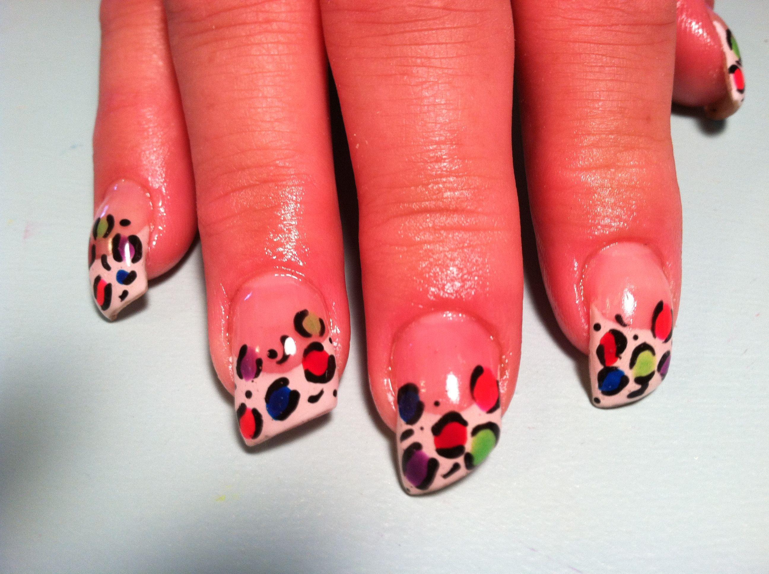 Lipstick cut Rainbow Cheetah!!! | Nails by Melissa | Pinterest ...