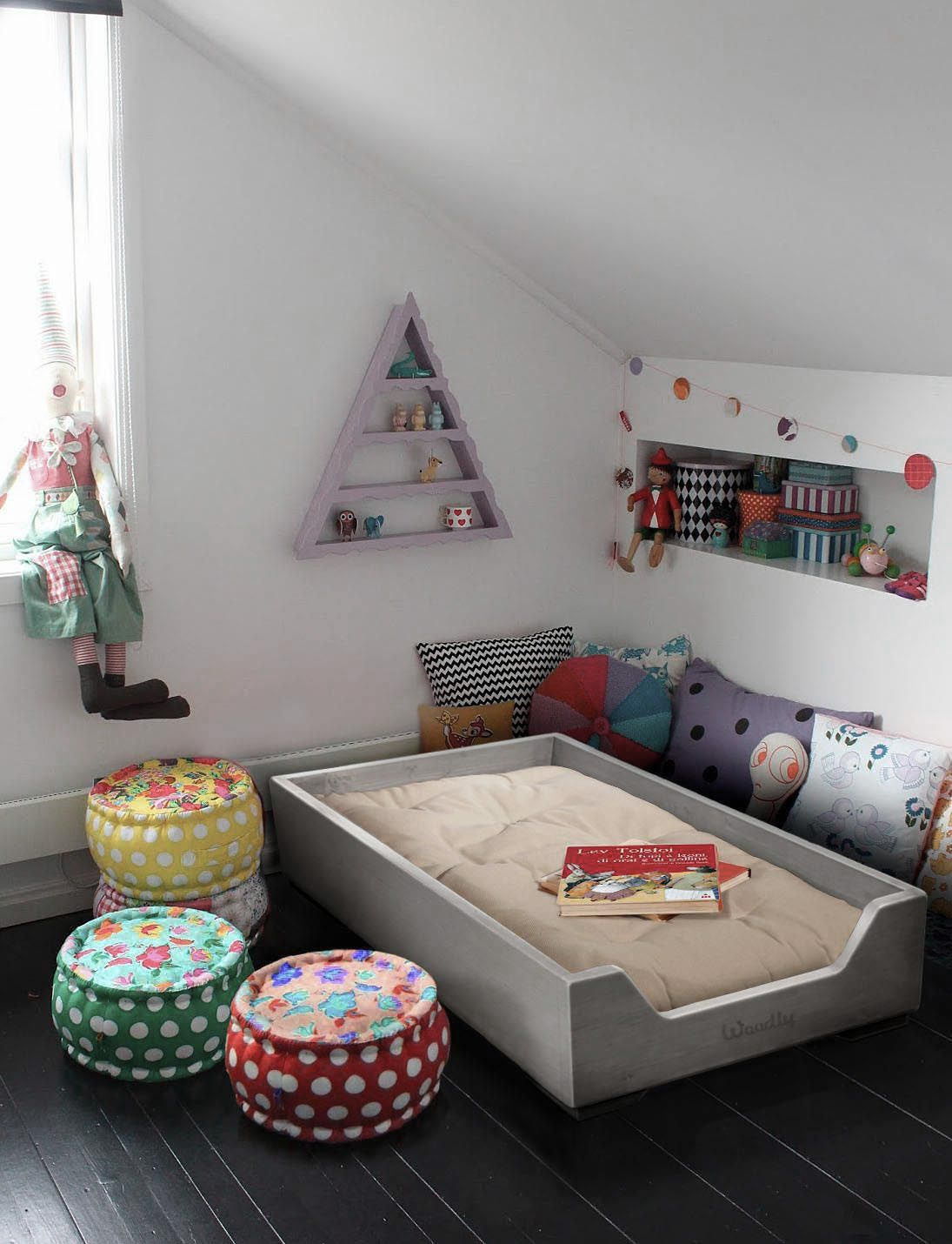 Love this bed it has sides but is still child independent for Montessori kids room