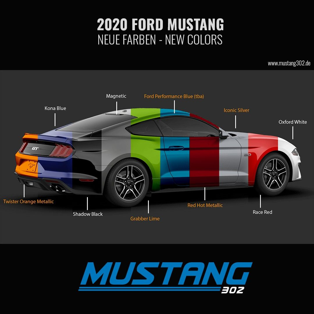 29+ Ford mustang colors 2020 ideas