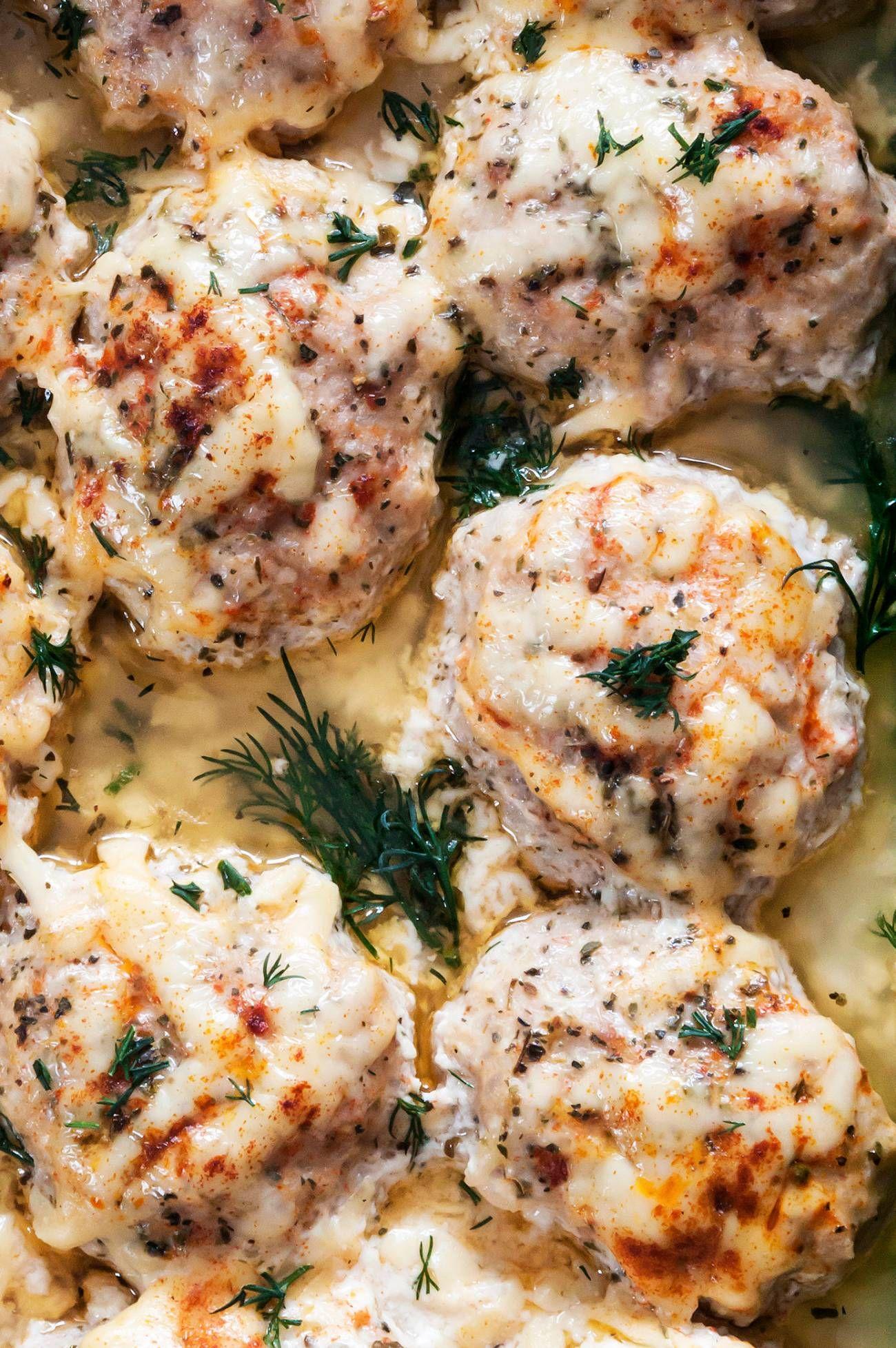 Chicken Meatballs With Sour Cream Sauce 12 Tomatoes Chicken Meatball Recipes Recipes Cream Sauce For Chicken