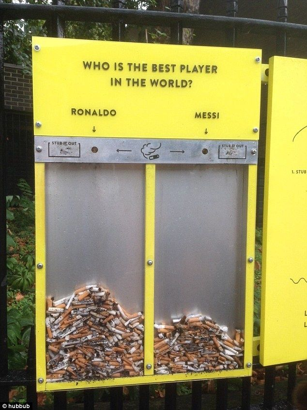 Voting ashtray by Hubbub #installation #participatory #interaction in Interesting Concepts