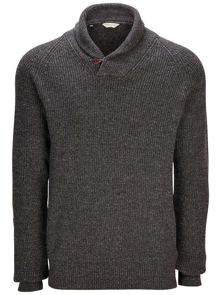 Heritage SELECTED Homme - Regular Fit - 100 % Baumwolle - Schalkragen mit Knopfverschluss - Raglan-Ärmel - Gerippte Strick-Struktur - Schwere Qualität - Weiche und atmungsaktive Qualität Strickware ist immer modern und dieser Sweater mit Schalkragen verfügt über einen gerippten Strick und eine figurbetonte Passform für ein stylisches Finish. Ideal für einen Lagen-Look über ein Hemd oder unter e...