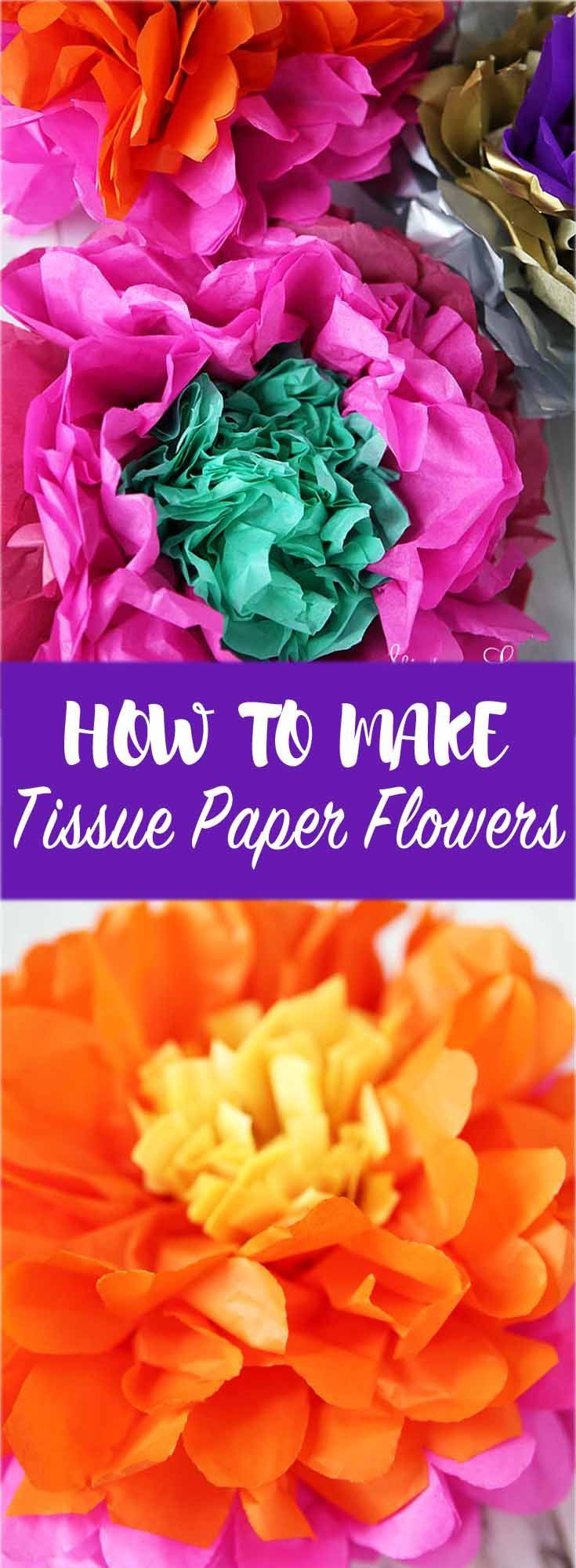 How To Make Tissue Paper Flowers Diy Pinterest Tissue Paper