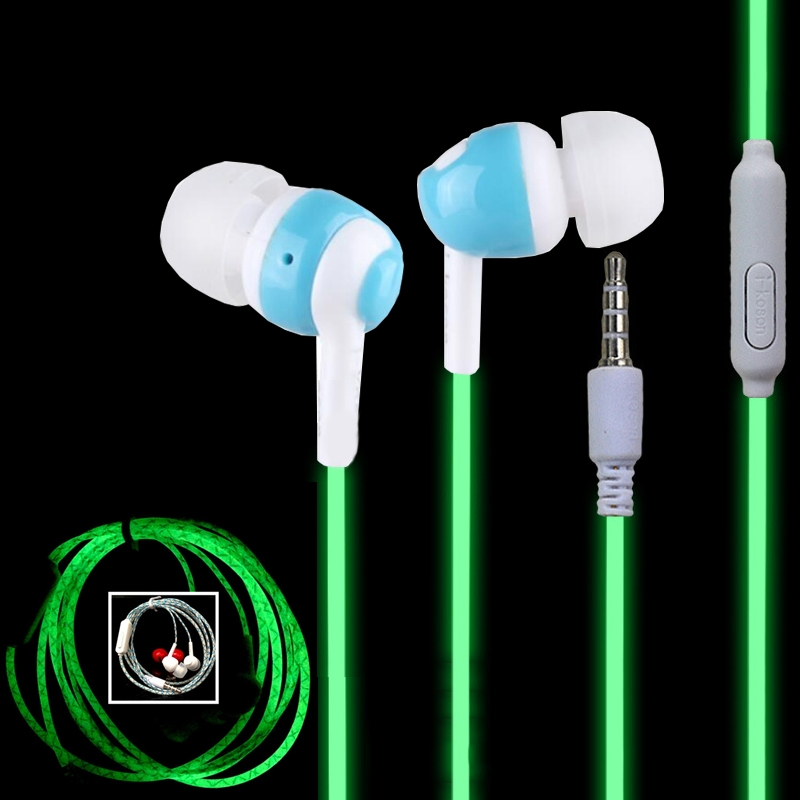 1.49$  Watch now - http://ali56u.shopchina.info/go.php?t=32449209107 - Glow in the dark Earphones Night Light Earpiece Universal Jack 3.5 In-ear Luminous Earphone for iPhone Samsung Sony Xiaomi Phone 1.49$ #shopstyle