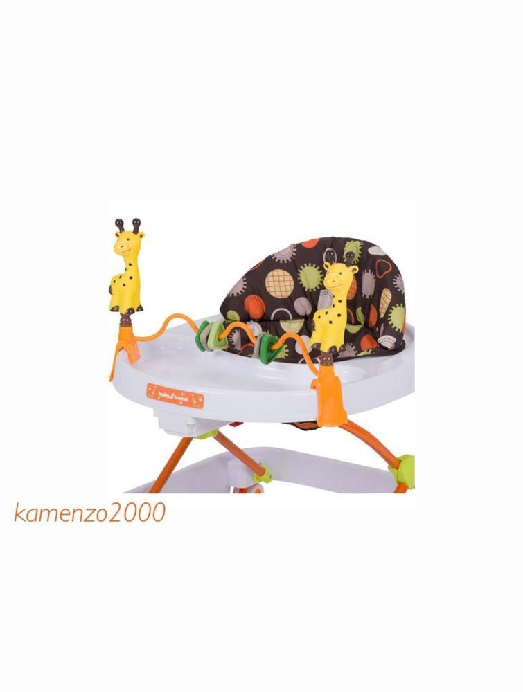 First Steps Safety Baby Walker Folding Portable Activity Toy Bar Unisex Colorful