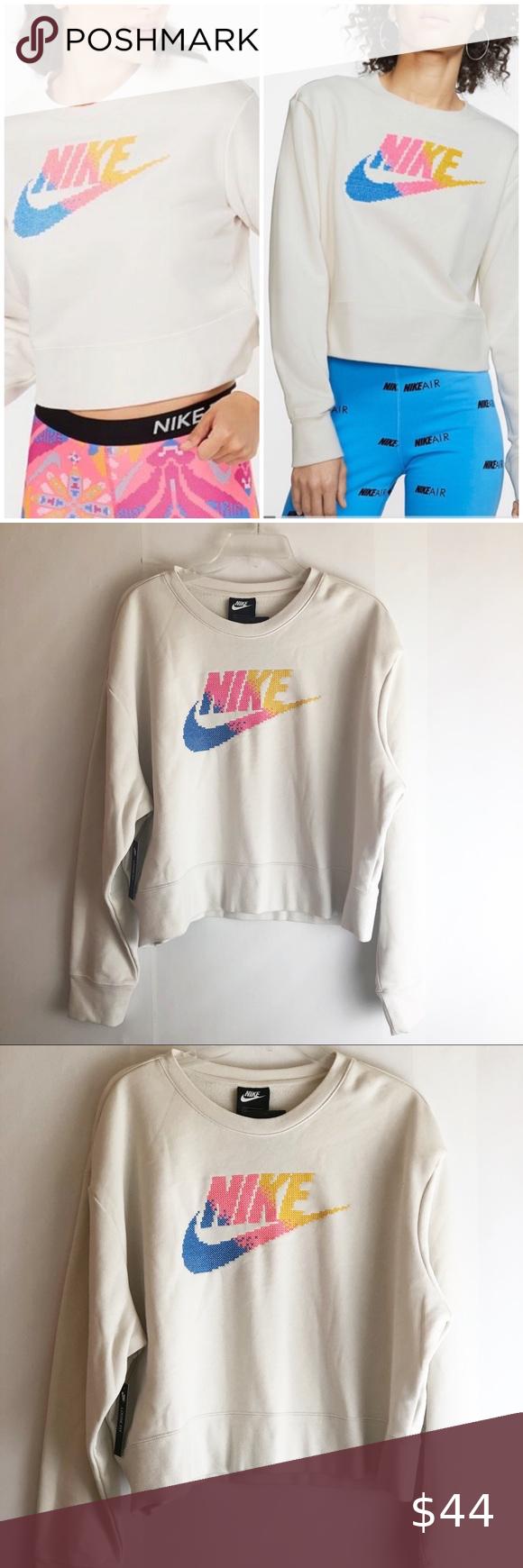 New Nike Stitch Logo Cropped Oversized Sweatshirt Sweatshirts Oversized Sweatshirt Sweatshirts Hoodie [ 1740 x 580 Pixel ]