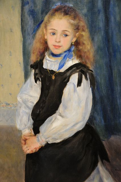 Pierre Auguste Renoir - Portrait of Mademoiselle Legrand, 1875 at the Museum of Art Philadelphia PA | Flickr - Photo Sharing!