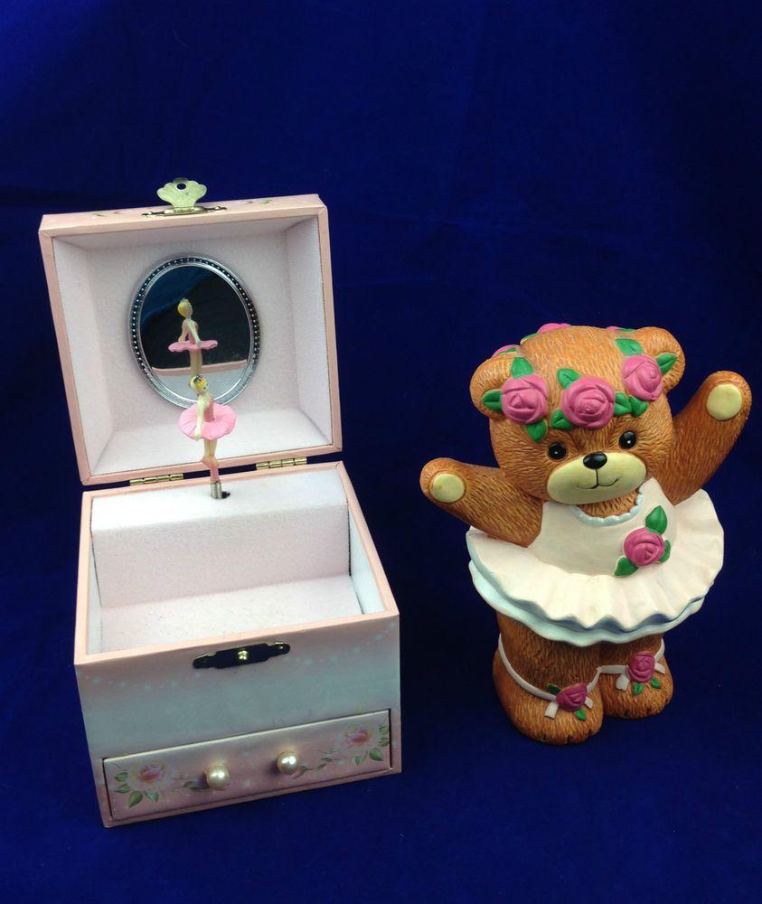 Lucy and Me ballerina bank Enesco Dancing Ballerina jewelry box