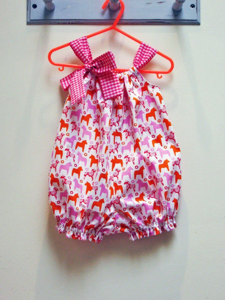 376d5acbb Pretty Baby Romper pdf sewing pattern for babies & toddlers 3 months to 4  years.