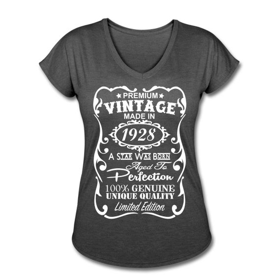 90th Birthday Gift Ideas For Women VELVETY PRINT Tri Blend Colors Memorable Made In 1928 Des